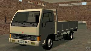 mitsubishi fuso dump truck mitsubishi fuso canter 1989 flat body for gta san andreas