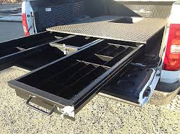 Slide Out Truck Bed Tool Boxes 8 Ft Truck Bed 3 Drawer Storage Tool Box W Goose Neck Hitch New