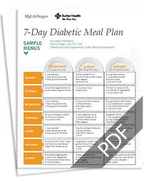breakfast menu for diabetics meal plans for a diabetic ideal weight for 5 girl