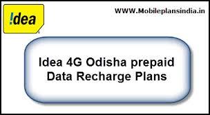 idea plans idea 4g odisha prepiad recharge plans