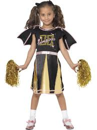 smiffys cheerleader bat girls halloween costume age 4 6 years