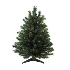 lowes artificial christmas trees with lights shop northlight 1 ft 6 in pre lit mixed needle artificial christmas
