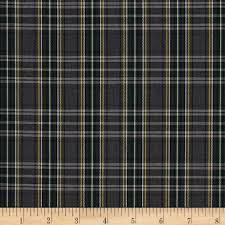school small plaid grey green discount designer fabric