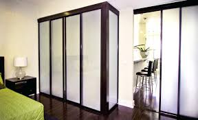 loft wall room divider freestanding closet sliding glass doors