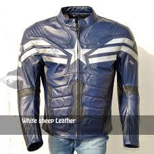 blue motorcycle jacket captain america stylish blue motorbike leather jacket stuff to buy