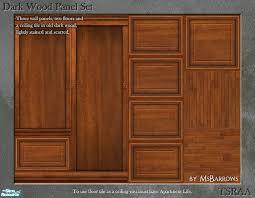 msbarrows u0027 dark wood panel set