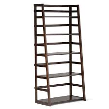 Industrial Bookcase With Ladder by Amazon Com Simpli Home Acadian Ladder Shelf Bookcase Rich