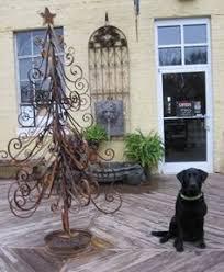 Black Dog Outdoor Christmas Decoration decorative iron tree 58
