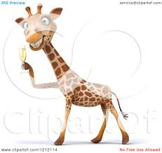 champagne toast cartoon happy giraffe clipart explore pictures