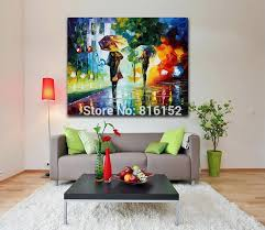 2018 100 hand painted painting rainy night canvas oil painting