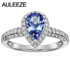 tanzanite engagement ring aliexpress buy fancy 1 5ct tanzanite engagement ring