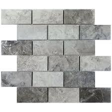 avenzo 12 in x 12 in valensa gray polished mosaic lowe u0027s canada