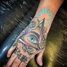 cool hand tattoos triangle eye tattoo hand tattoo pinterest triangle eye