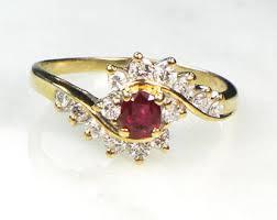 ruby diamond ring ruby diamond ring etsy