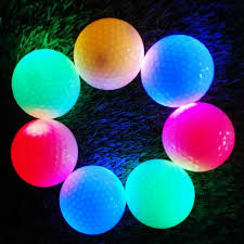 2017 new 2 pcs flash light tracker glitter glow golf balls led