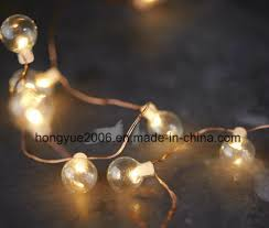 led fairy lights with timer china home decorations led copper wire glass bubble fairy lights