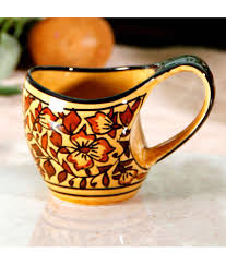 buy coffee mugs online india unravel india handpainted brown stoneware coffee mugs 6 pcs buy
