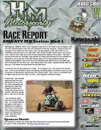ama atv motocross h u0026m u0027s davi haagsma ama atv motocross mill creek race report ama