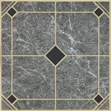Checkerboard Vinyl Floor Tiles by Home Impressions 12