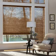 Bamboo Rollup Blinds Patio by Home Decoration Best Bamboo Roman Shades For Living Room Cool
