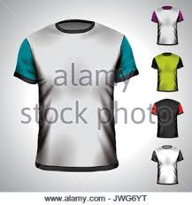 vector t shirt design template in various colors eps 10 stock
