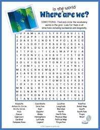 map search directions map vocabulary word search puzzle by puzzles to print tpt