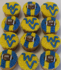 spirit halloween morgantown wv wvu cupcake decorations cupcakes west virginia mountaineers
