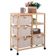 Closet Storage Shelves Unit 2 Section Storage Shelf Unit With 4 Fabric Drawers Closet