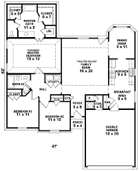 single storye floor plans one three bedroom bungalow plan