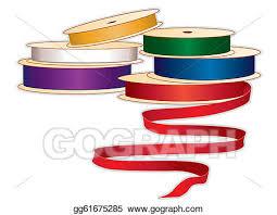 spools of ribbon vector clipart spools of ribbons colors vector