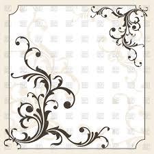 Ornate decorative frame Royalty Free Vector Clip Art Image
