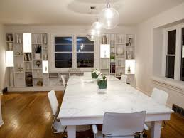 No Chandelier In Dining Room Farmhouse Dining Room Lighting Kitchen Table Track Modern
