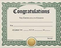printable congratulations award certificates templates