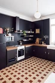 black wall kitchen home design