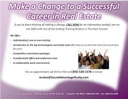 a career in real estate sound advantage realty