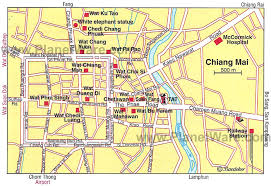 bangkok map tourist attractions 12 top tourist attractions in chiang mai planetware