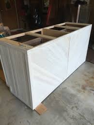 kitchen island base cabinet kitchen island made from 2 stock base cabinets wrapped with tongue