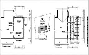 construction site plan construction view of foundation and roof plan dwg file