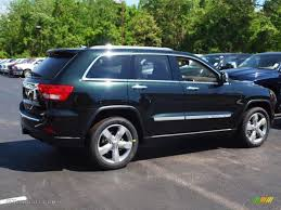 green jeep grand cherokee 2012 black forest green pearl jeep grand cherokee overland 4x4