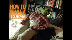 scarecrow halloween prop how to make a scarecrow halloween prop in 10 minutes easy and