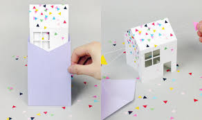 Paper Invitations 3d Paper House Invitations Diy Paper Invitation