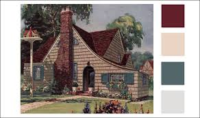 1926 weatherbest cottage multi color red u0026 brown roof shingles
