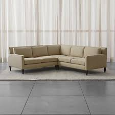 Small Sectional Sofa Small Scale Sectional Sofas Crate And Barrel