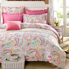 Teen Comforter Set Full Queen by Light Pink Paisley Bedding Kids Girls Teens Flower 5pcs 100