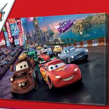 cars disney disney cars speed giant canvas great kidsbedrooms the children