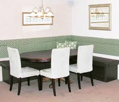 furniture dining room with brown wooden storage banquette with
