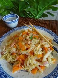 recette cuisine chinoise recette paléo chou chinois aux carottes et lardons