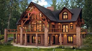 House Images Hybrid Log And Timber Frame Style In The Copper House