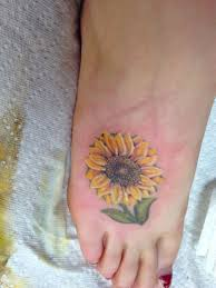 sunflower tattoo foot design creativefan