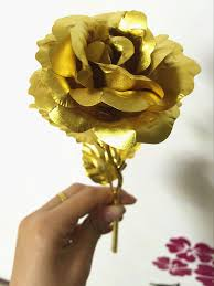 aliexpress com buy 24k gilded rose home decor romantic full open